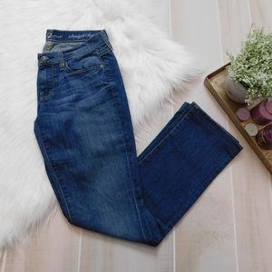 7 For All Mankind Blue Straight Leg Jeans*
